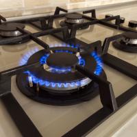Propane gas stove top